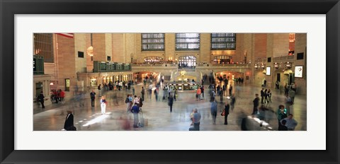 Framed Passengers At A Railroad Station, Grand Central Station, Manhattan, NYC, New York City, New York State, USA Print