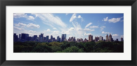 Framed Skyscrapers In A City, Manhattan, NYC, New York City, New York State, USA Print