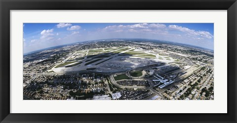 Framed Aerial view of an airport, Midway Airport, Chicago, Illinois, USA Print