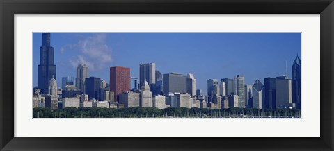 Framed Chicago Skyscrapers, Illinois Print