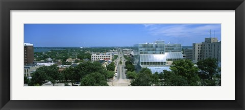 Framed High Angle View Of A City, E. Washington Ave, Madison, Wisconsin, USA Print