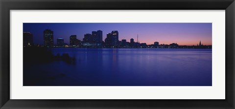 Framed Buildings at the waterfront, New Orleans, Louisiana, USA Print