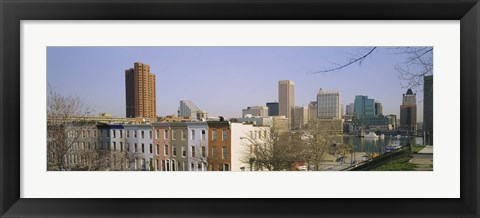 Framed High angle view of buildings in a city, Inner Harbor, Baltimore, Maryland, USA Print