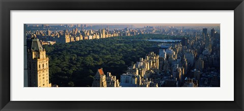 Framed Central Park and Manhattan, New York City Print