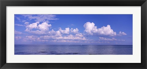 Framed Clouds over the sea, Tampa Bay, Gulf Of Mexico, Anna Maria Island, Manatee County, Florida Print
