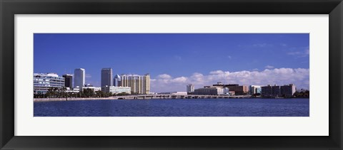 Framed City at the waterfront, Hillsborough Bay, Tampa, Hillsborough County, Florida, USA Print