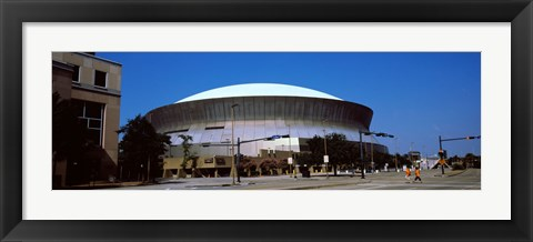 Framed Low angle view of a stadium, Louisiana Superdome, New Orleans, Louisiana, USA Print