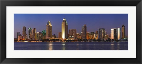 Framed San Diego Night View Print