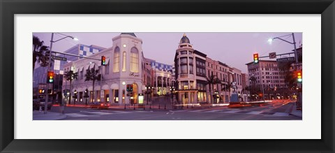 Framed Rodeo Drive, Beverly Hills, California Print
