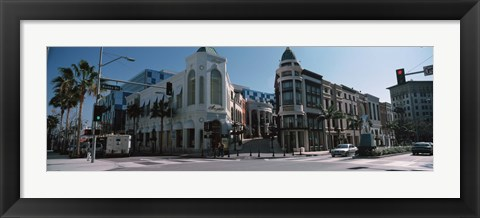 Framed Street Corner at Rodeo Drive, Beverly Hills, California Print