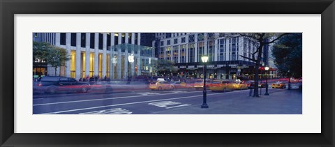 Framed Traffic on the road, Fifth Avenue, Manhattan, New York City, New York State, USA Print