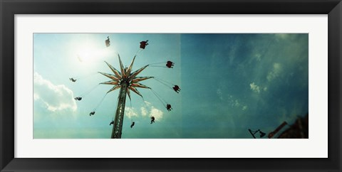 Framed Low angle view of a park ride, Brooklyn Flyer Ride, Luna Park, Coney Island, Brooklyn, New York City, New York State, USA Print