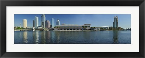 Framed Buildings at the waterfront, Tampa, Hillsborough County, Florida, USA Print