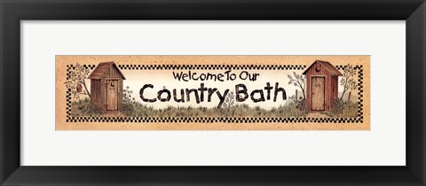 Framed Bath Welcome Print