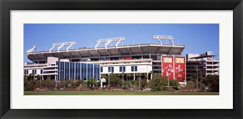 Framed Raymond James Stadium home of Tampa Bay Buccaneers, Tampa, Florida Print