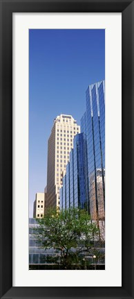 Framed Reflection on BMO Bank building, Oklahoma City, Oklahoma, USA Print