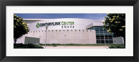 Framed Facade of a convention center, Century Link Center, Omaha, Nebraska, USA Print