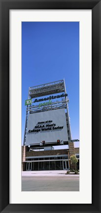 Framed Sign board at a convention center, Century Link Center, Omaha, Nebraska, USA Print