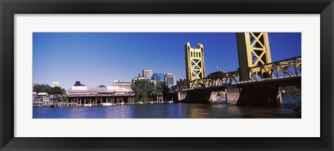 Framed Tower Bridge, Sacramento, CA, USA Print