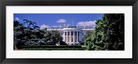 Framed Facade of the government building, White House, Washington DC, USA Print