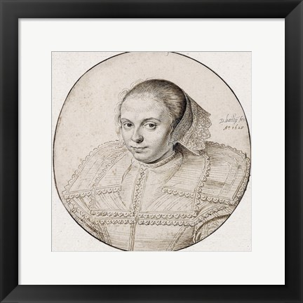 Framed Portrait of a Woman Print