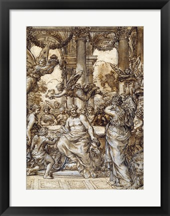 Framed Cybele before the Council of the Gods Print