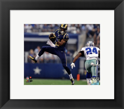 Framed Tavon Austin 2013 Action Print