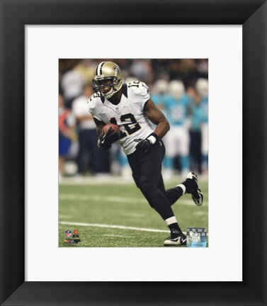 Framed Marques Colston with the ball 2013 Print