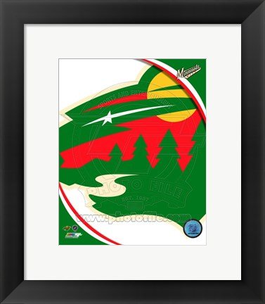 Framed Minnesota Wild 2013 Team Logo Print