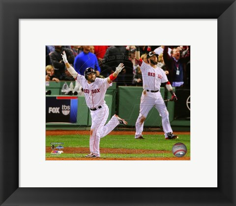 Framed Shane Victorino Grand Slam Game 6 - American League Championship Series Print