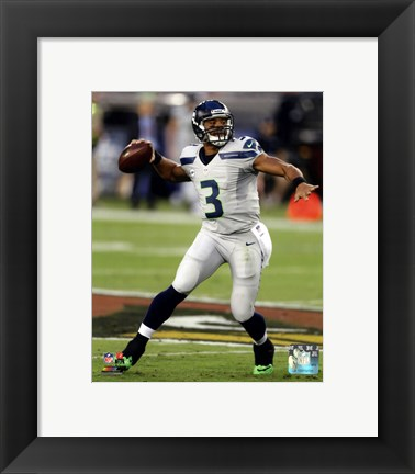 Framed Russell Wilson 2013 Action Print
