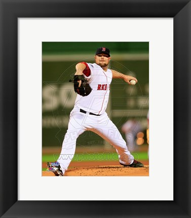 Framed Jon Lester Game 1 of the 2013 World Series Print