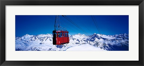 Framed Cable Car Andermatt Switzerland Print