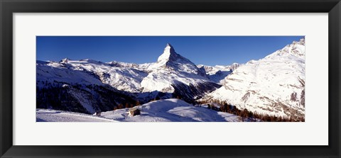 Framed Matterhorn, Zermatt, Switzerland (horizontal) Print