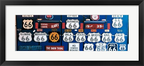 Framed Route 66 Sign Collection Print