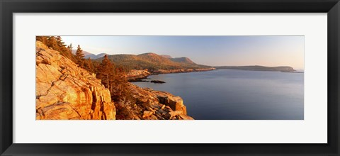 Framed High angle view of a coastline, Mount Desert Island, Acadia National Park, Maine, USA Print