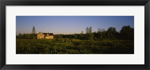Framed Abandoned house in a field, Ellenburg, New York, USA Print