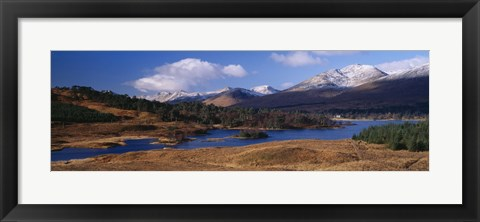 Framed Lake on mountainside, Loch Tulla, Rannoch Moor, Argyll, Scotland Print