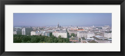 Framed Austria, Vienna, High angle view of the city Print