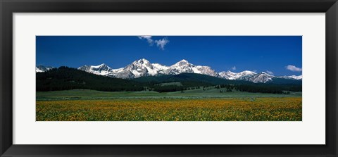 Framed Sawtooth Mtns Range Stanley ID USA Print