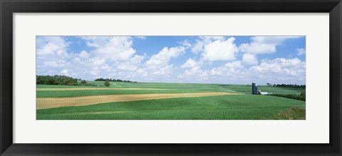 Framed Barn In A Field, Wisconsin, USA Print