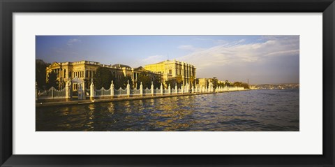 Framed Palace at the waterfront, Dolmabahce Palace, Bosphorus, Istanbul, Turkey Print