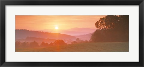 Framed Sunrise Caledonia VT USA Print