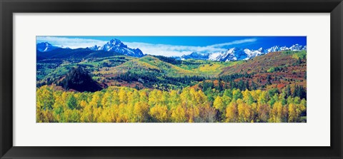 Framed San Juan Mountains, Colorado, USA Print