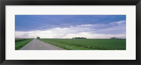Framed Storm clouds over a landscape, Illinois, USA Print