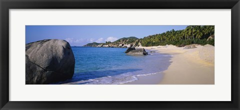 Framed Boulders On The Beach, The Baths, Virgin Gorda, British Virgin Islands Print