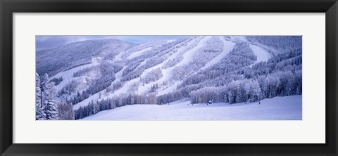 Framed Mountains, Snow, Steamboat Springs, Colorado, USA Print