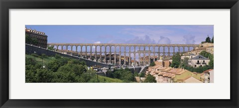 Framed Road Under An Aqueduct, Segovia, Spain Print