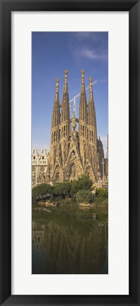 Framed Low Angle View Of A Cathedral, Sagrada Familia, Barcelona, Spain Print