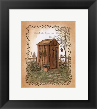Framed Behind the House Print